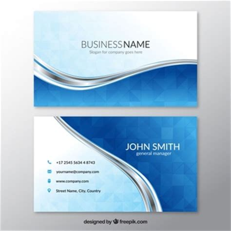 business card template wavy design business card template vector free