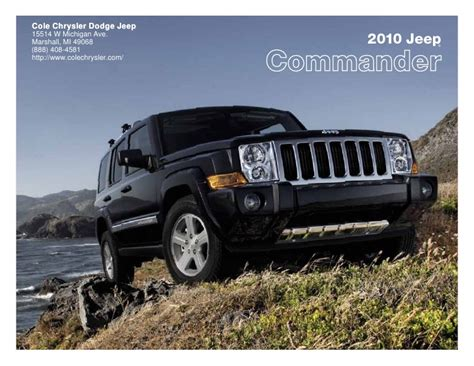 Cole Chrysler Marshall Mi by 2010 Jeep Commander Cole Chrysler Dodge Jeep Marshall Mi