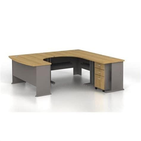 right hand corner computer desk bush business series a u shaped right computer desk in