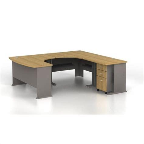 bush business series a u shaped right computer desk in