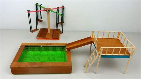 Diy Miniatur Papercraft Gedung Ncpa diy playground toys 2 miniature swimming pool slide swings crafts ideas