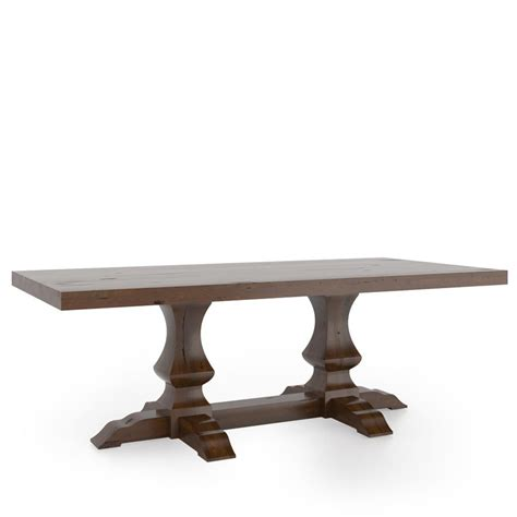 canadel dining table canadel tre4288pw f loft rectangular dining table with pedestal discount furniture at hickory