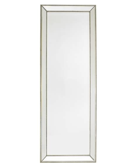 Beaded Floor Mirror by Channing Silver Beaded Floor Mirror Williams Sonoma