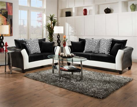 black and white sofa and loveseat featured friday zigzag sofa loveseat set american freight