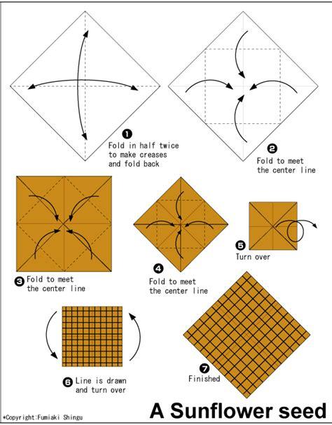 Sunflower Origami - sunflower easy origami for
