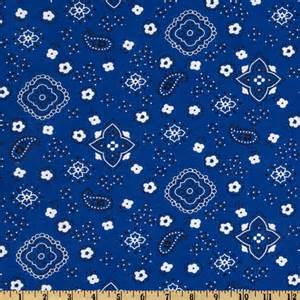 Chandelier Print Fabric Blue Bandana Fabric Com