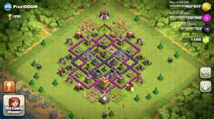 Clash of clans town hall 7 the defense layout explained