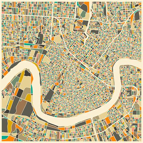 new orleans map new orleans map digital by jazzberry blue