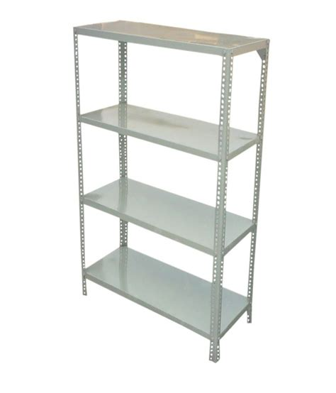 Slotted Rack by Hira Gray Slotted Angle Racks Buy At Best Price In