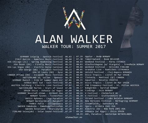 alan walker upcoming alan walker us tour alan walker announces walker tour in