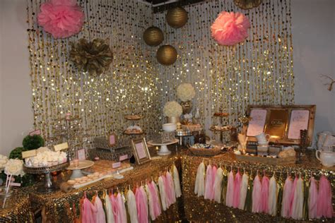 pink and gold baby shower table decorations pink and gold baby shower ideas venuescape