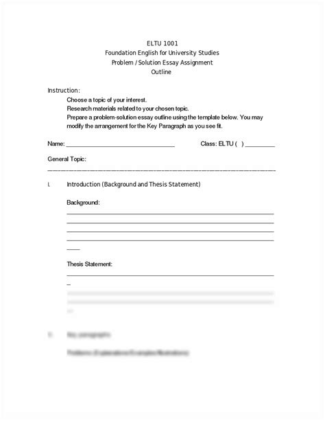 problem solution outline template 12 best images of narrative writing worksheets for high