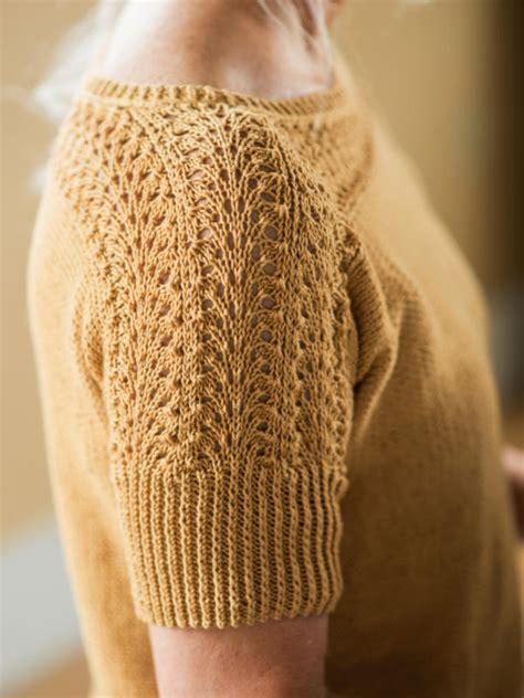 knitting pattern  diane  short sleeve sweater
