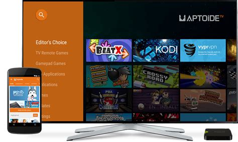 aptoide smart tv install apps on your android tv from your smartphone with
