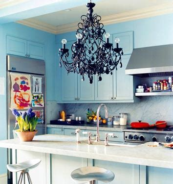 Woodlawn Blue Kitchen by Blue Kitchen Cabinets Eclectic Kitchen Benjamin Woodlawn Blue Domino Magazine