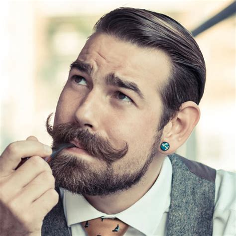 haircuts that go with a handlebar mustache modern handlebar mustaches with haircuts men s