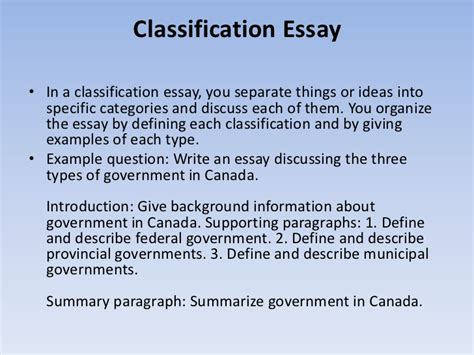 Classification Essay by Classification And Division Essay Botbuzz Co