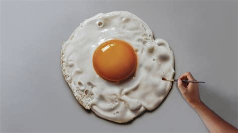 egg painting fried egg painting on canvas how to paint 3d