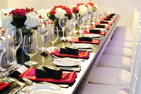 55 Black White And Red Table Settings, Ideas And Links