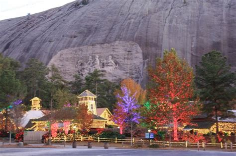 christmas lights at stone mountain park picture of stone