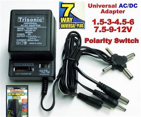 Adaptor Charger Universal Batok Charger universal ac dc power adapter output 3v 4 5v 6v 7 5v 9v 12v 500ma 2 sony plugs ebay