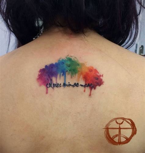 rainbow tattoos extremely rainbow watercolor quotes on