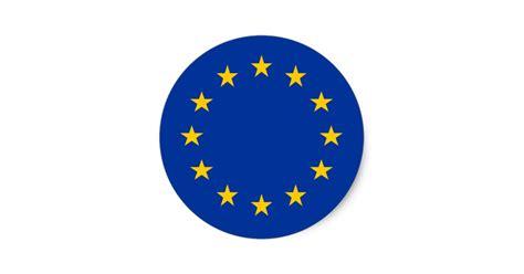 Home Decor Ornaments by European Union Flag Round Stickers Eu Europe Zazzle Co Uk