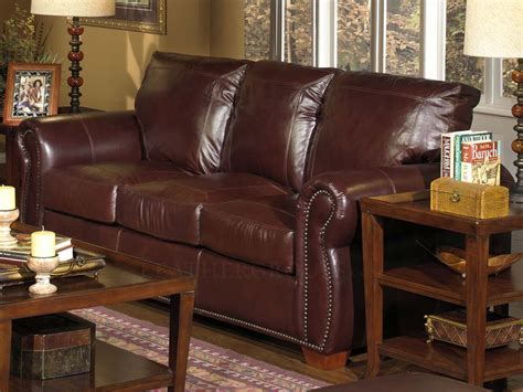 100 Top Grain Leather Sofa by Massimo 100 Top Grain Leather Sofa