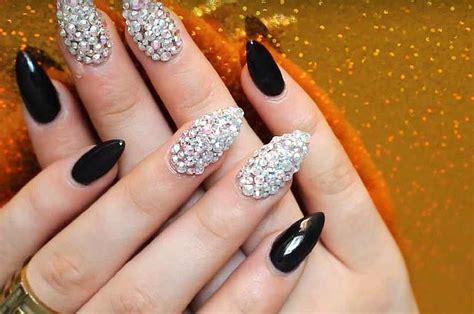 Nail Crystals tutorial brilliant swarovski nails design
