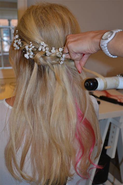 hairstyles with hair vines half up half down wedding hair for brides and bridesmaids