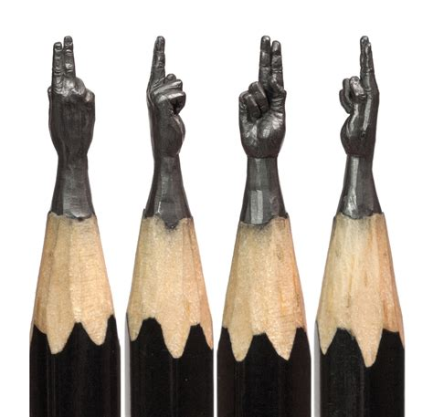 lead layout artist lead finger incredible miniatures carved out of pencil