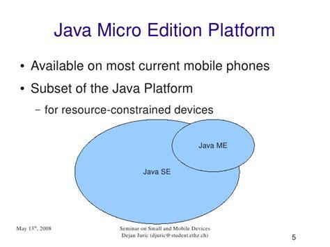 tutorial java micro edition java micro edition platform