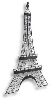 Eiffel Tower Wall Decor by Black Metal Decorative Eiffel Tower Wall Hanging