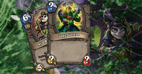 Hearthstone Introduces Jade Lotus and Jade Golems