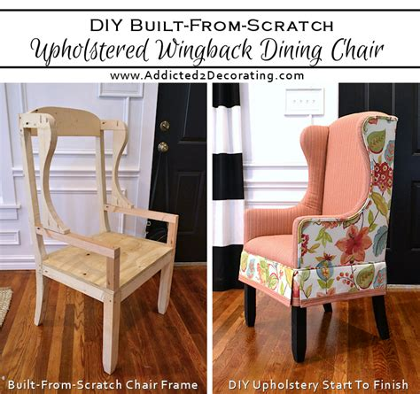 how to upholster a wooden chair diy upholstered wingback dining chair finished how to