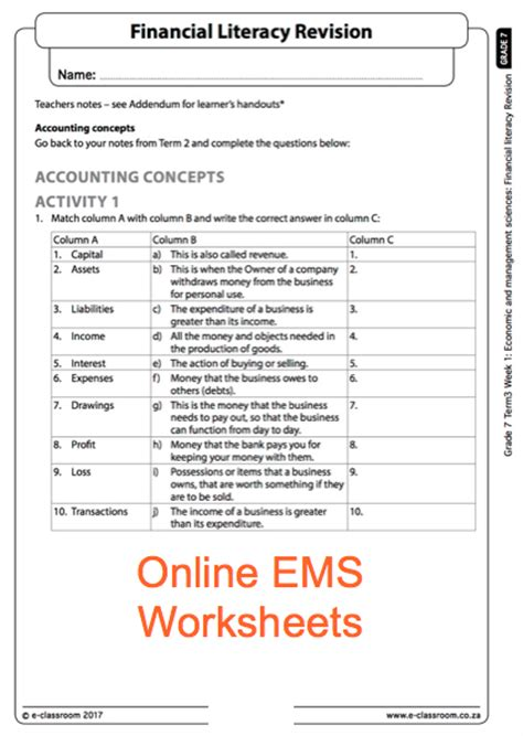 Financial Literacy Worksheets For High School by What Is The Real Cost Financial Literacy Worksheet Sle