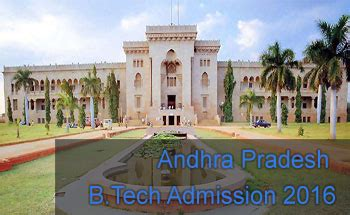 Entrance For Mba In Andhra Pradesh by Andhra Pradesh B Tech Admission 2016 Admission