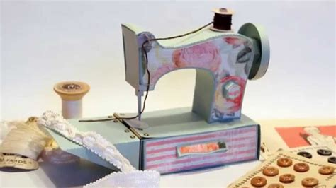 Paper Crafting Machines - 3d vintage sewing machine svg paper crafting pattern