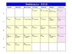 Calendario 2018 Febbraio Calendario 3 Mesi 2015 Calendar Template 2016