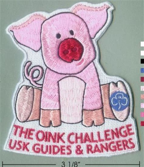 brownie challenges the oink challenge badge oink challenge