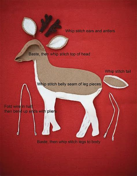 felt reindeer pattern free 1000 images about felt reindeer moose on pinterest