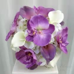 orchid bouquet lavender white calla orchid wedding bouquet