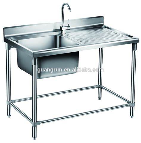 Free Standing Kitchen Sink Catering Equipment Of Restaurant Used Free Standing Heavy Duty Commercial Stainless Steel