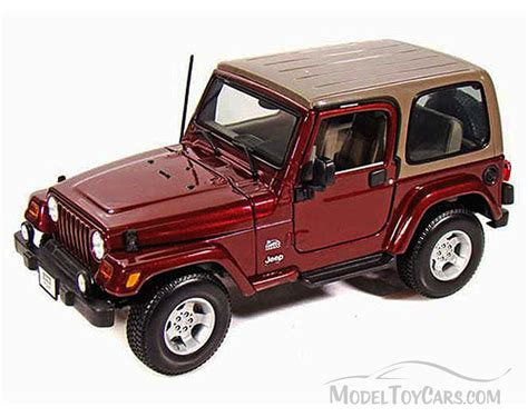 jeep toy car jeep wrangler sahara maroon maisto 31662 1 18 scale
