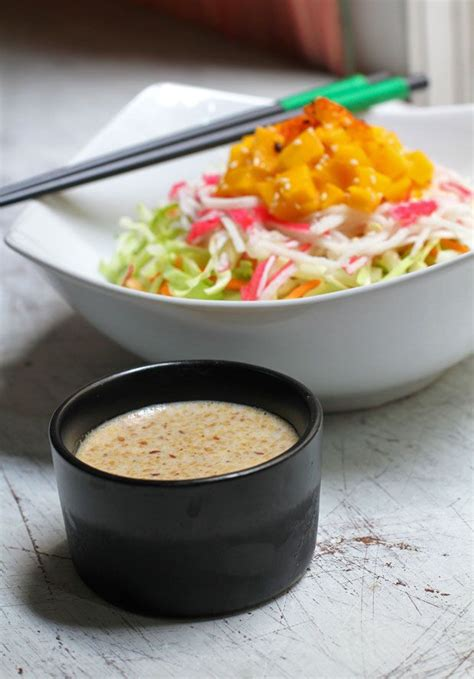 kewpie sesame dressing recipes japanese style salad with roasted sesame dressing i ve