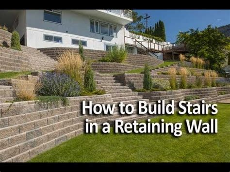 build stairs   retaining wall youtube