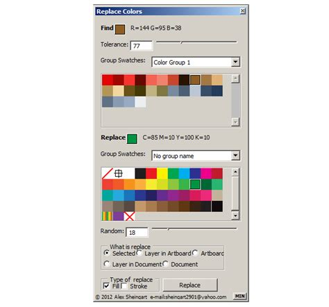illustrator replace color free illustrator script replace swatches color