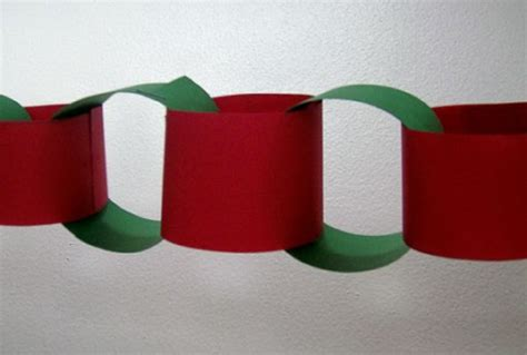 How To Make Chains Out Of Paper - ornaments and decorations