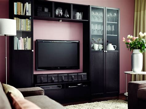 ikea billy bookcase entertainment center furniture 29 best tv wall images on pinterest