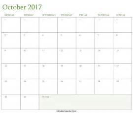 Fall Calendar Template by October 2017 Calendar Template Monthly Calendar 2017